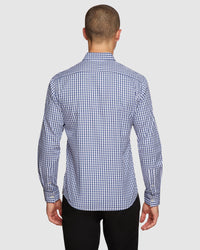 STRATTON CHECKED SHIRT PETROL GREY