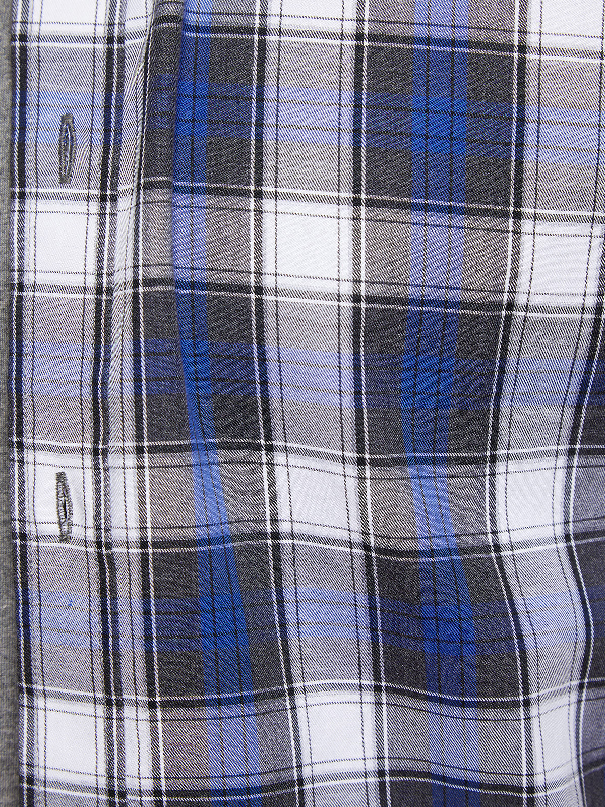 STRATTON CHECKED SHIRT GREY/BLUE