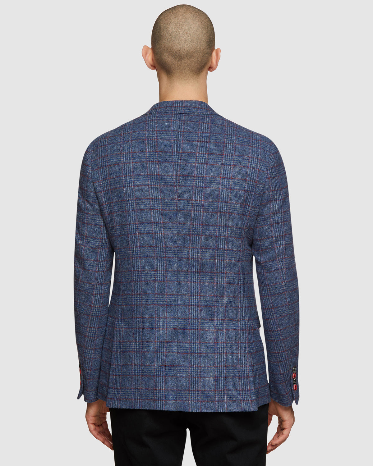 BLAKE WOOL BLEND CHECKED BLAZER PETROL