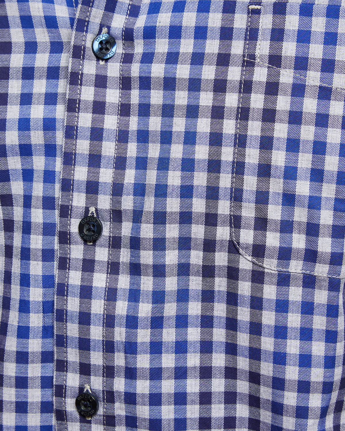 UXBRIDGE CHECKED SHIRT GREY/BLUE