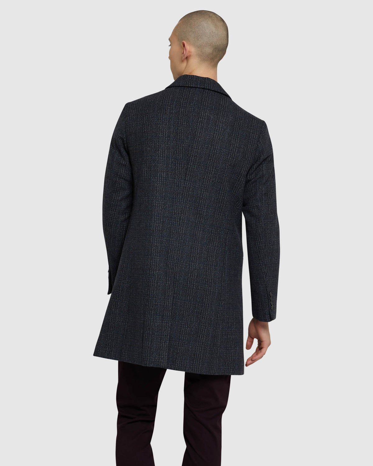 FROST CHECK OVERCOAT BLUE