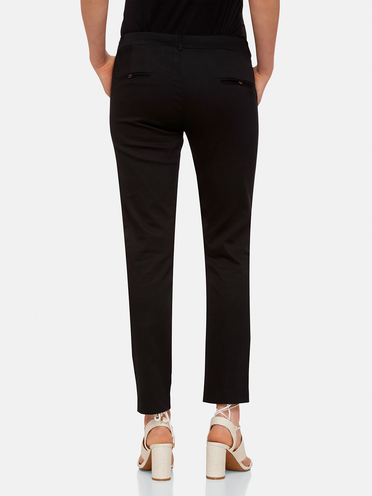 EMMA CROP TROUSERS BLACK