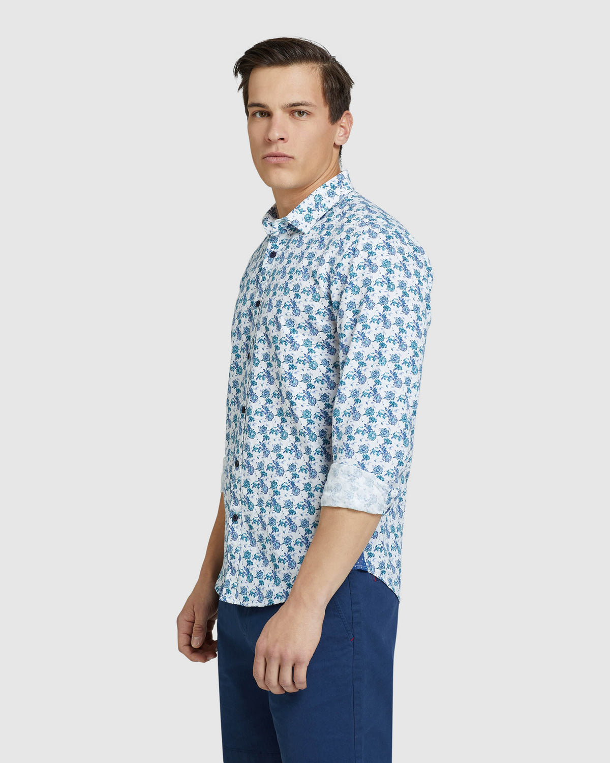 KENTON LINEN COTTON FLORAL SHIRT