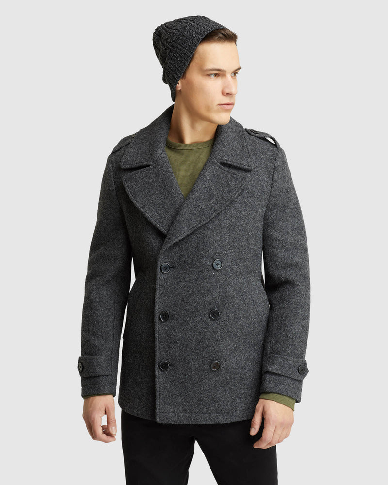 HENRY KNITTED PEA COAT