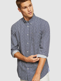 UXBRIDGE REGULAR FIT PRINTED SHIRT NAVY