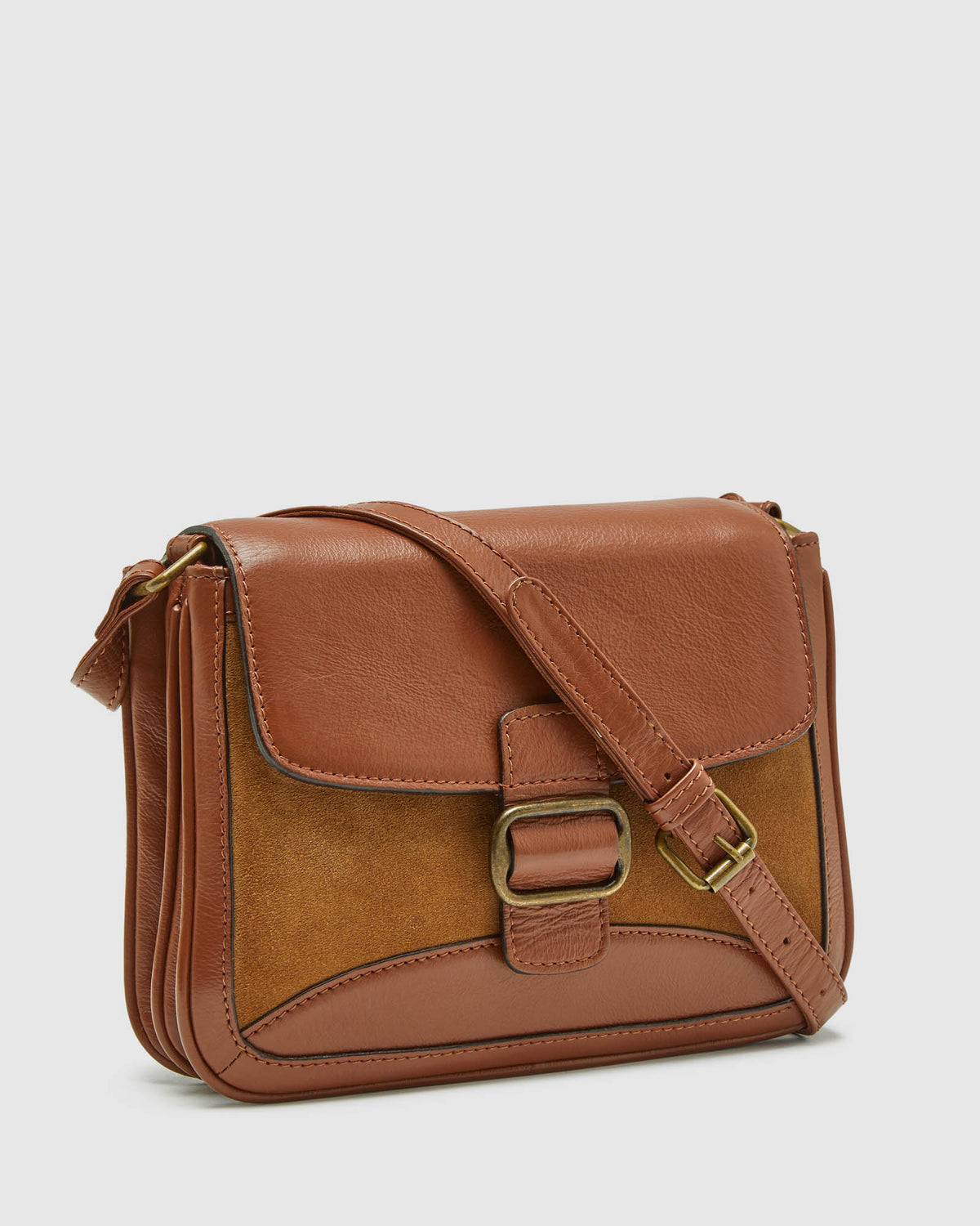 HARLOW LEATHER & SUEDE BAG TAN