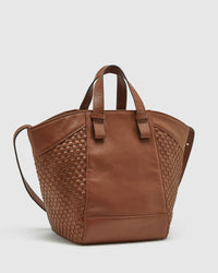 ORIANNE WOVEN LEATHER BAG