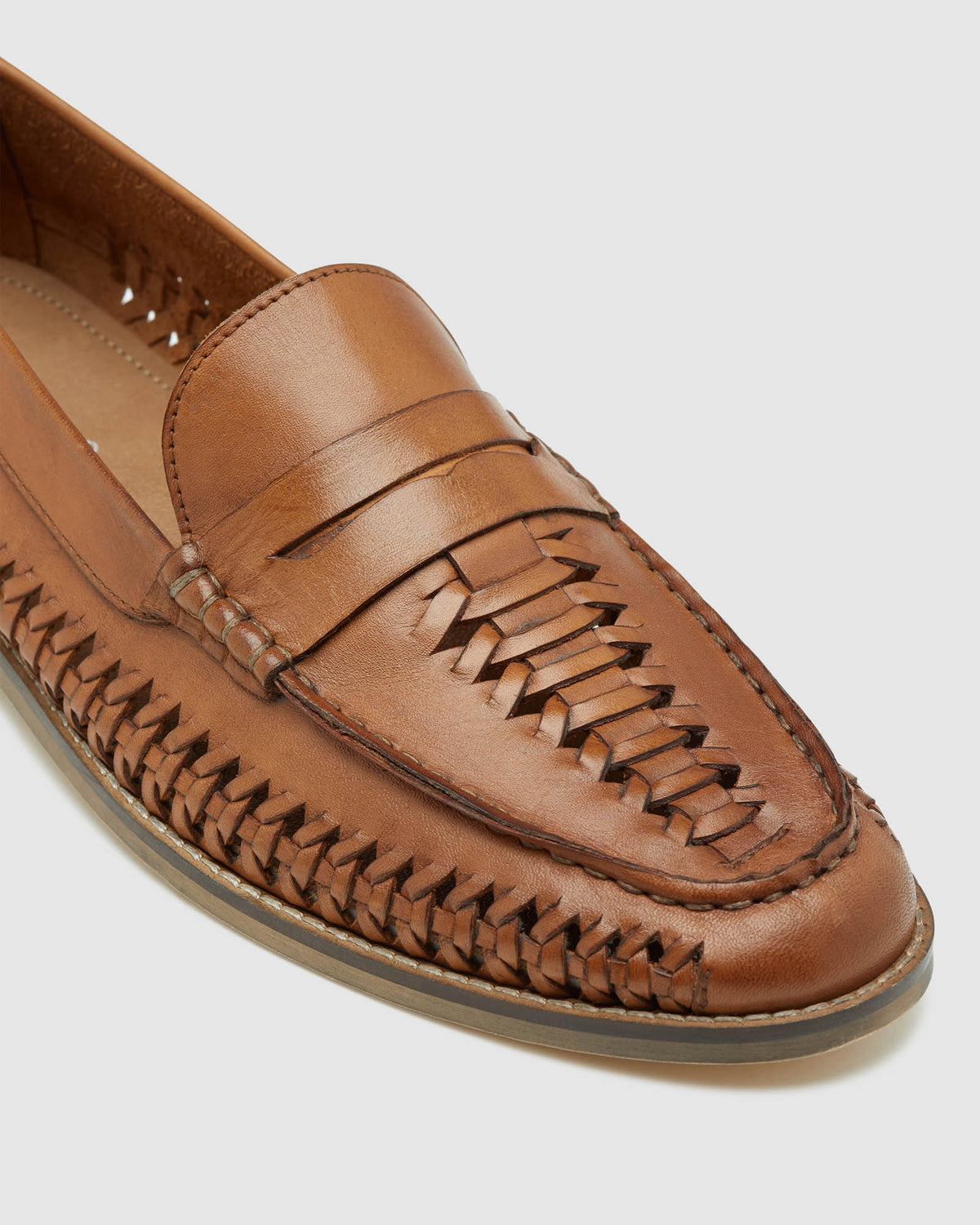 HAZAAR LEATHER MANDAL TAN