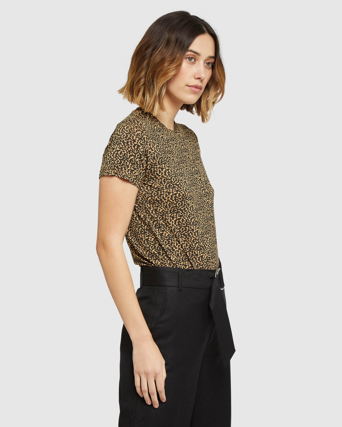 DOTTY ANIMAL PRINT T-SHIRT SAND