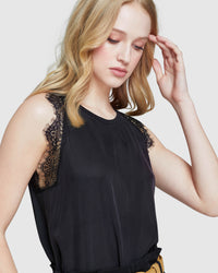KITTY LACE TRIM TANK