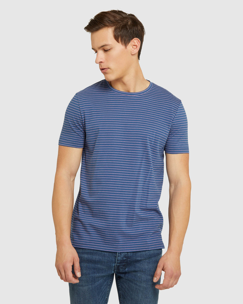 COOPER STRIPED T-SHIRT BLUE/PINK