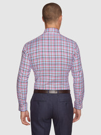 BECKTON CHECKED LUXURY SHIRT RED/BLUE