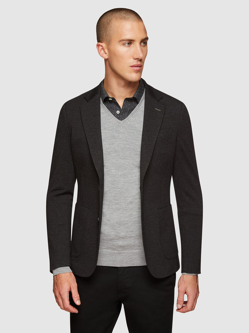 DRYDON KNITTED BLAZER BLACK