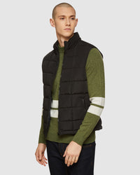 VINNIE QUILTED PUFFA VEST BLACK