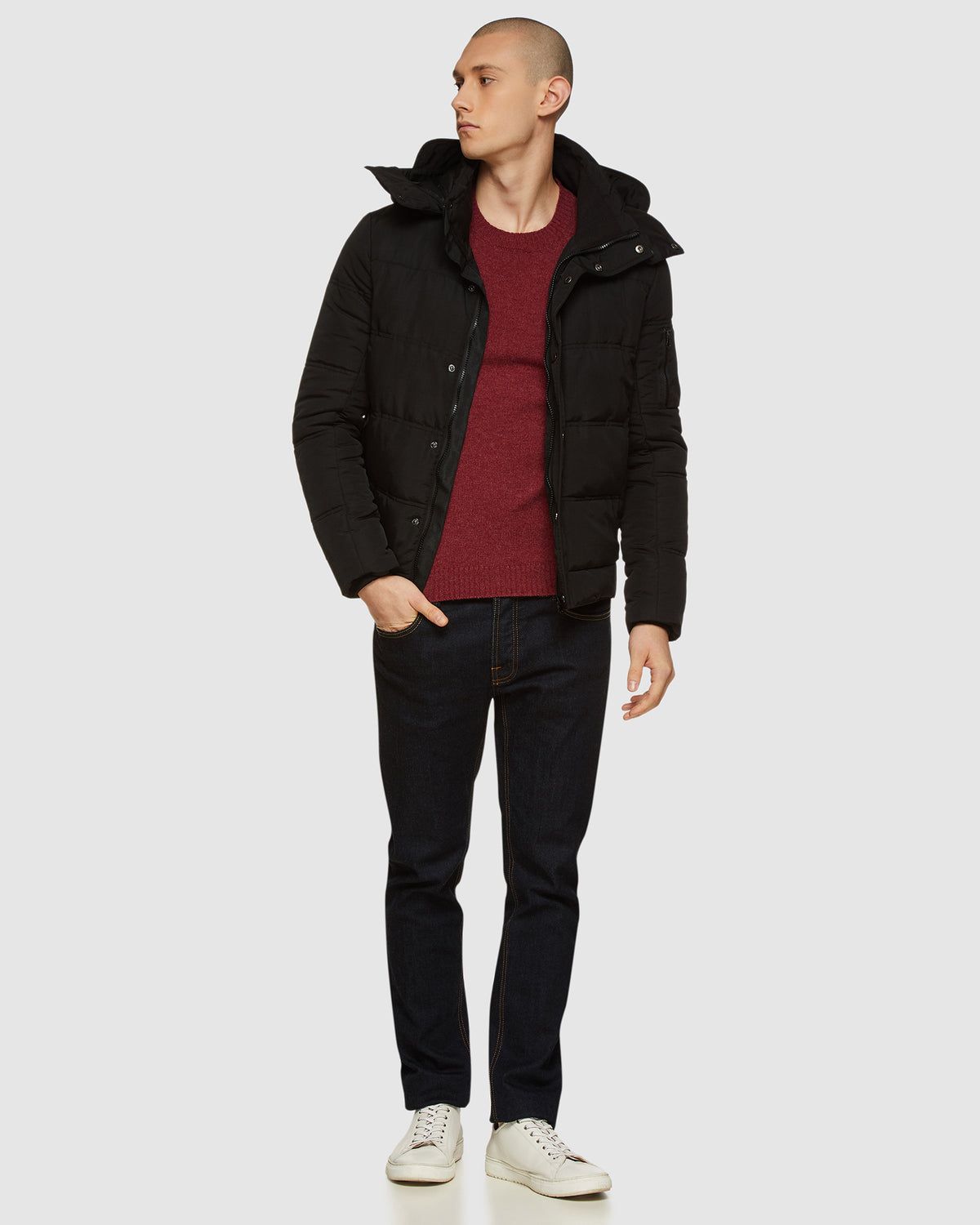 AIDEN HOODY PUFFA JACKET BLACK