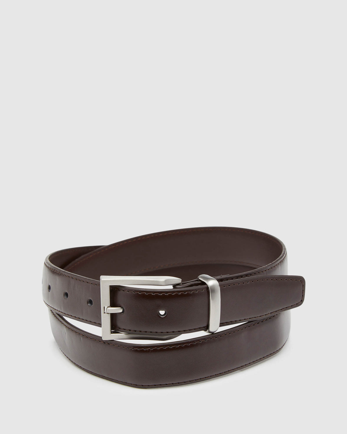 ARLEN LEATHER BELT CHOCOLATE