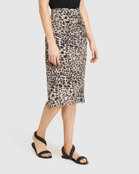 MARCEL ANIMAL PRINT SKIRT NATURAL