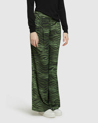 CHANTAL ANIMAL PRINT WIDE LEG PANTS