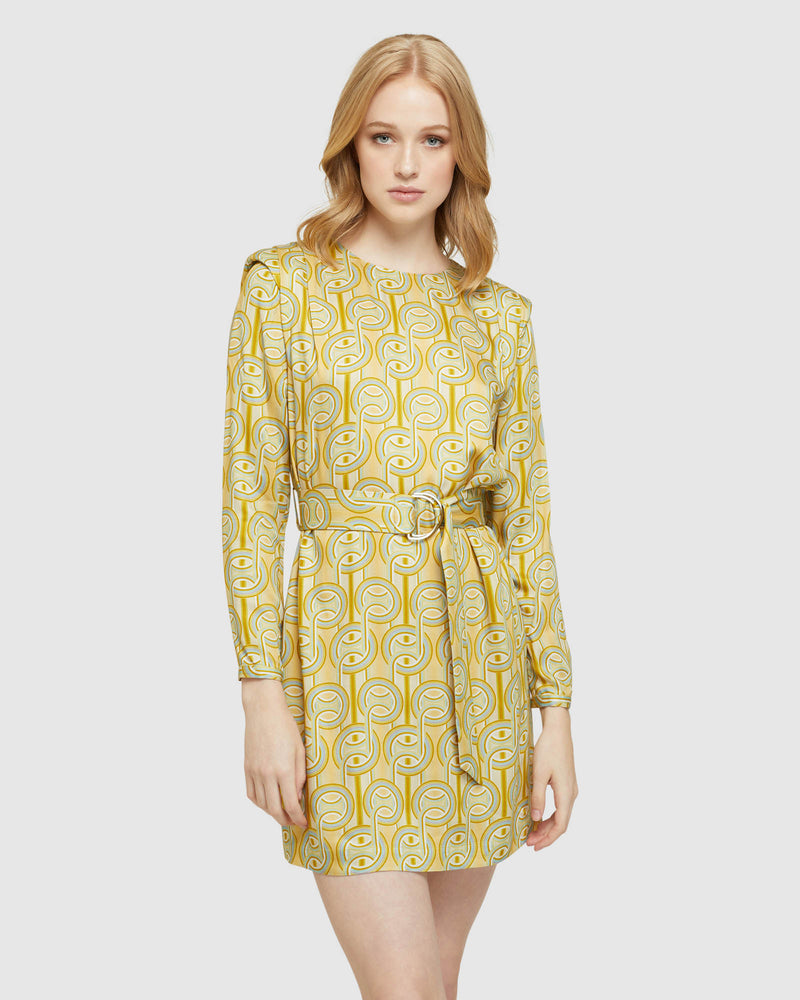 DORIT GEO PRINT DRESS