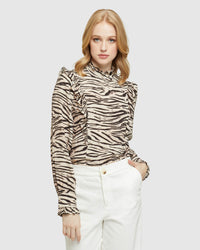 BECCY ANIMAL PRINT TOP