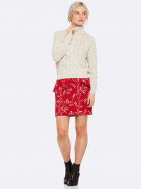 KATE RED PRINT SKIRT RED