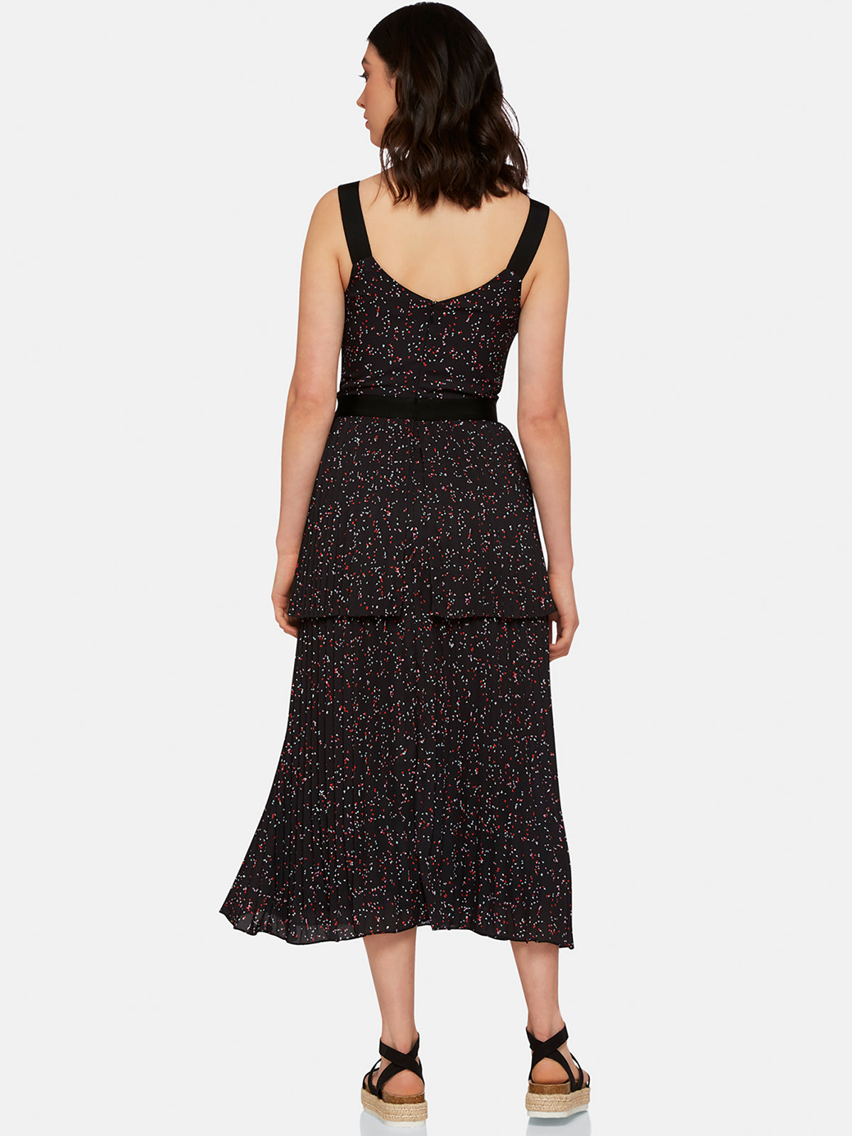 YANA PLEATED DRESS BLACK MULTI