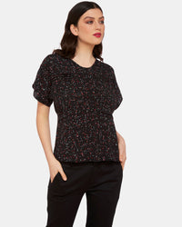 AMY BLACK TRIANGLE PRINT TOP