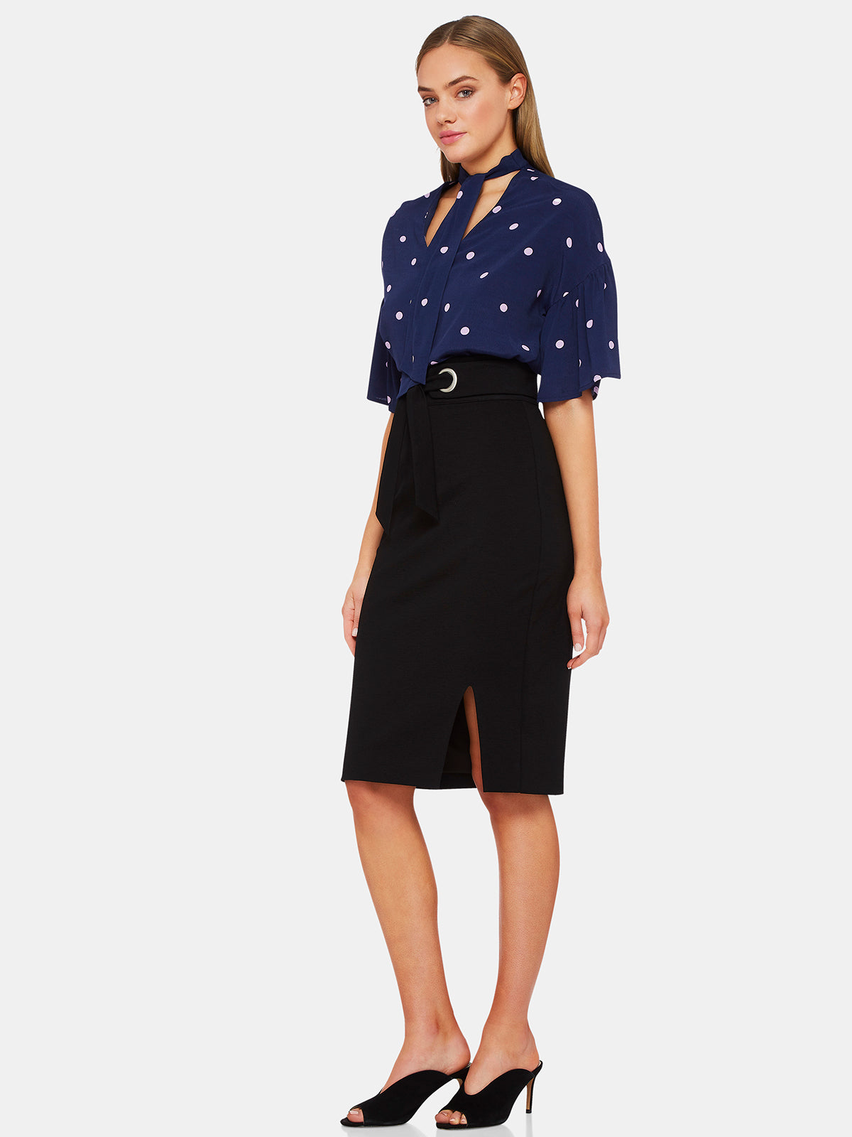 PERSIA SHORT SLEEVE SPOT BLOUSE