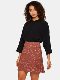 PENELOPE MUTTON SLEEVE TOP BLACK