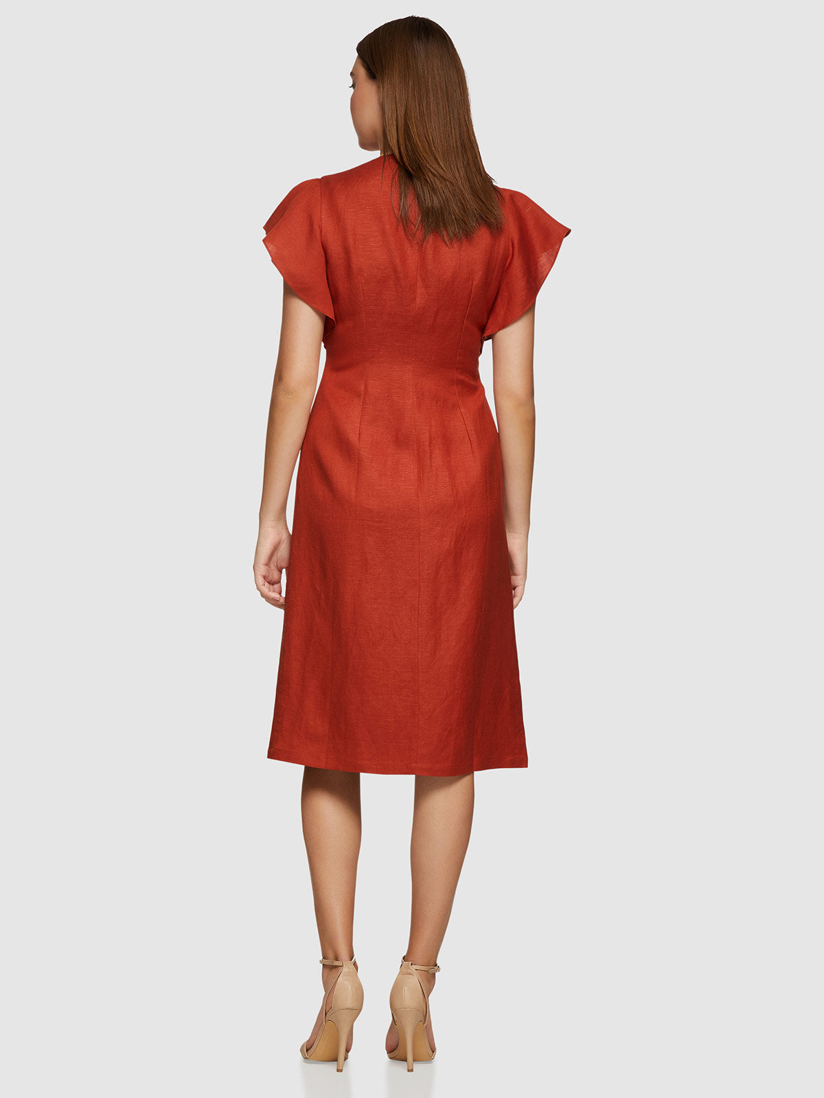 MICHEALA DRESS TERRACOTTA