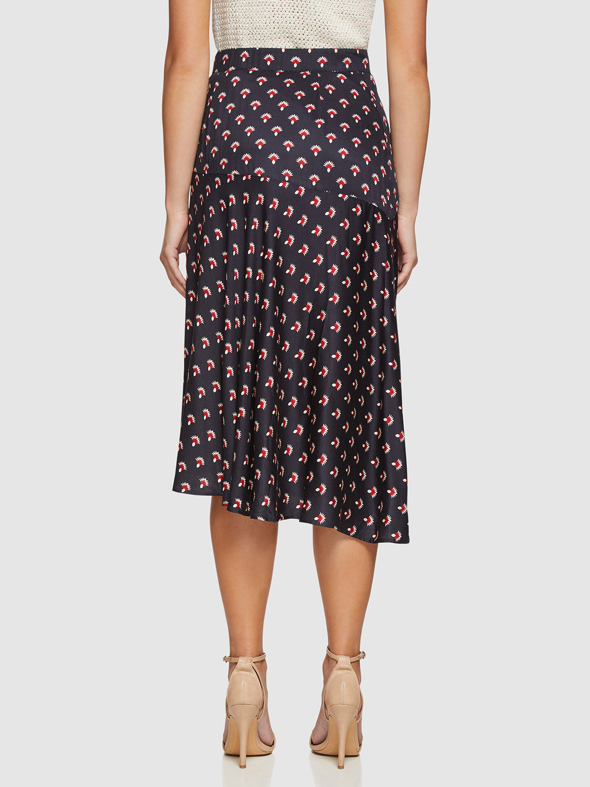 ANDY GEO PRINT SKIRT NAVY