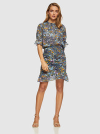 RENEE FLORAL SKIRT NAVY MULTI