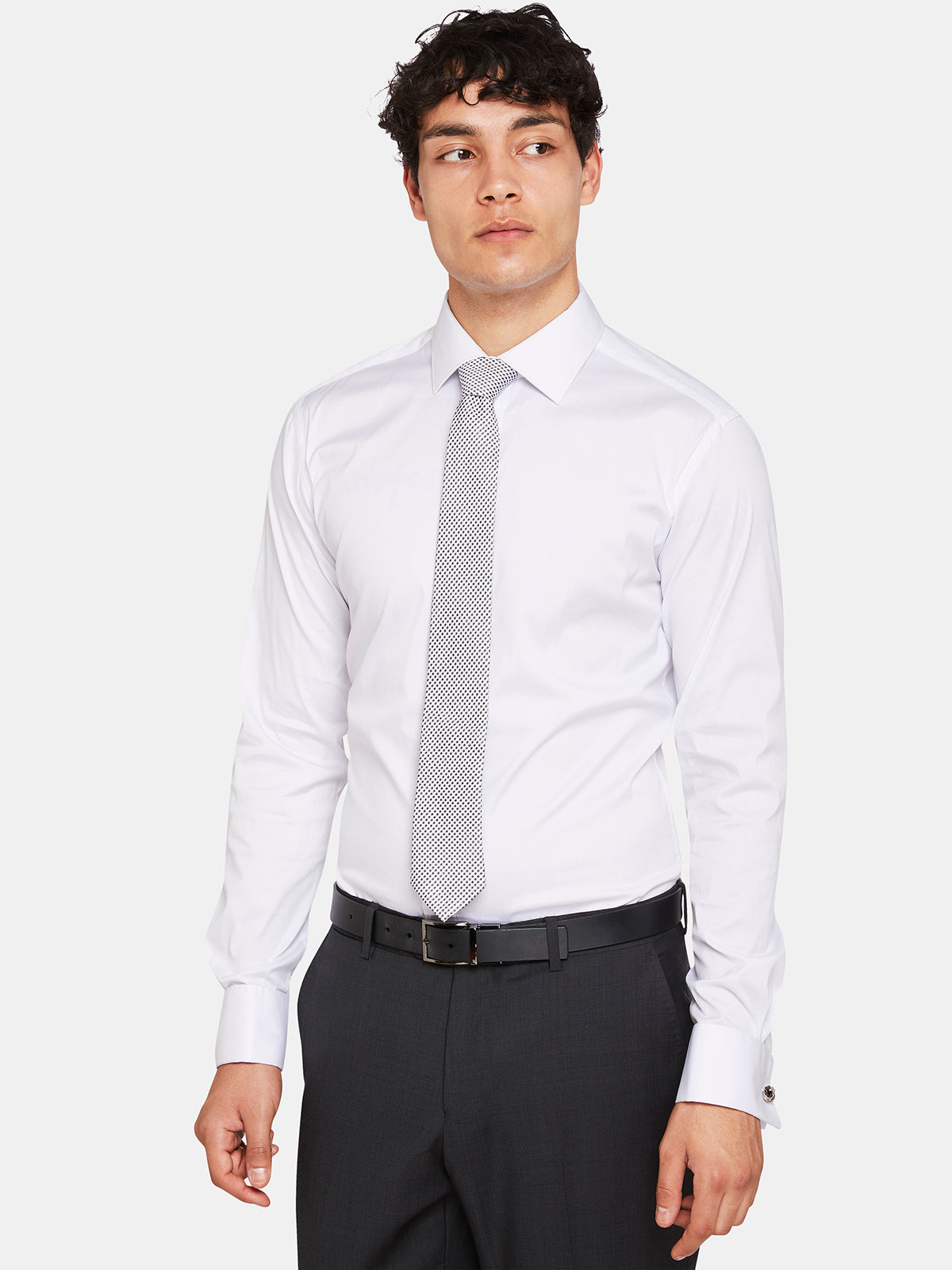 STRETCH FRENCHCUFF TRAVEL SHIRT WHITE