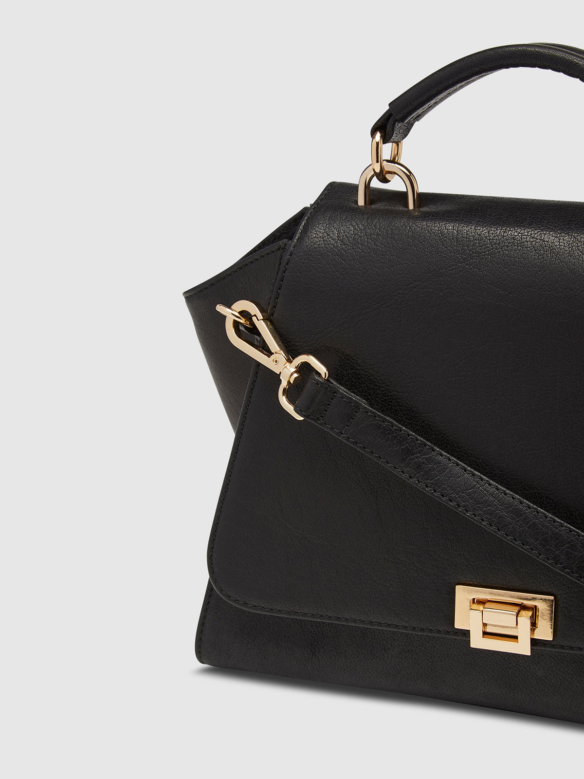 ALLEGRA LEATHER BAG BLACK