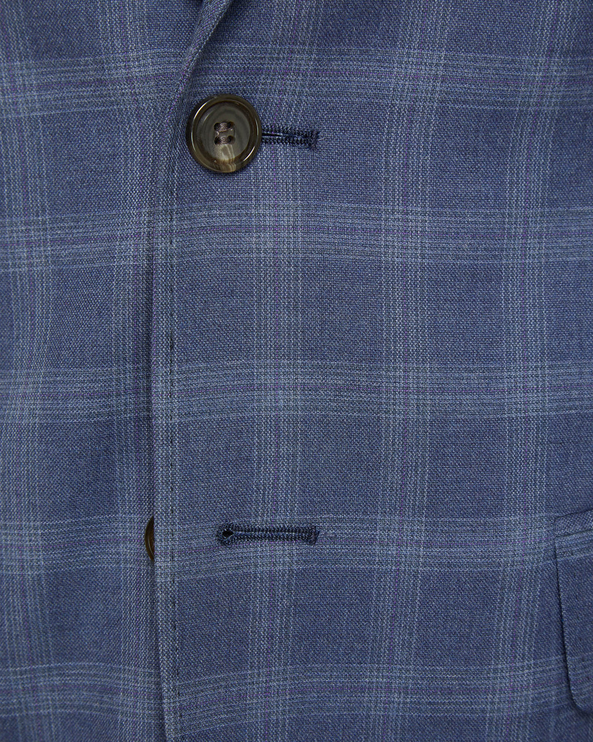 AUDEN ECO CHECKED SUIT JACKET BLUE CHECK