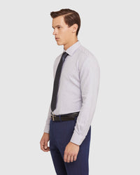 ISLINGTON DOBBY REGULAR FIT SHIRT NAVY
