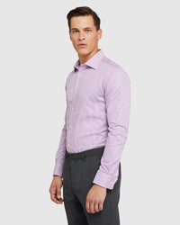 ISLINGTON F/C DOBBY REGULAR SHIRT PURPLE