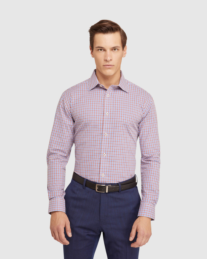 ISLINGTON CHECKED REGULAR FIT SHIRT RED/BLUE