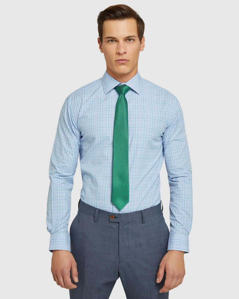ISLINGTON CHECKED LUXURY SHIRT BLUE/GREEN