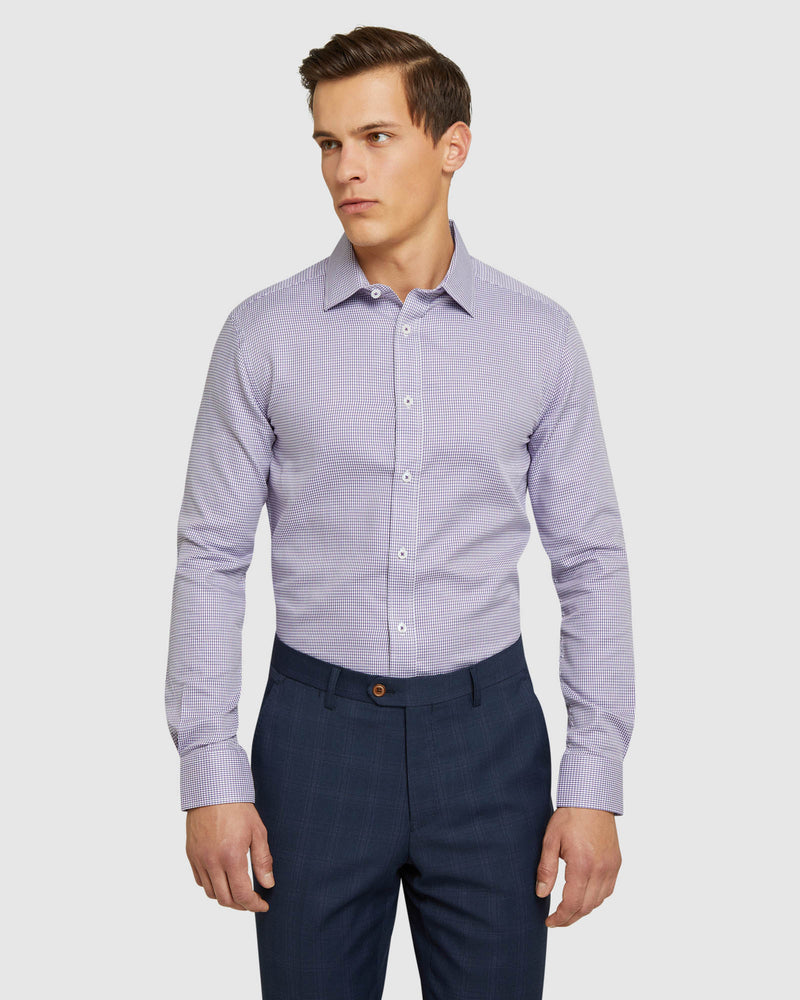 BECKTON DOBBY LUXURY SHIRT PURPLE