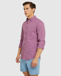 UXBRIDGE LINEN COTTON CHECK SHIRT