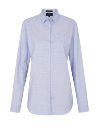 HORIZONTAL STRIPE SHIRT BLUE