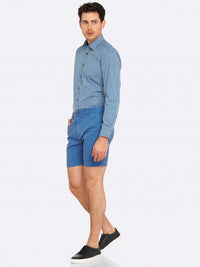 KENTON REGULAR FIT SHIRT BLU/GRN