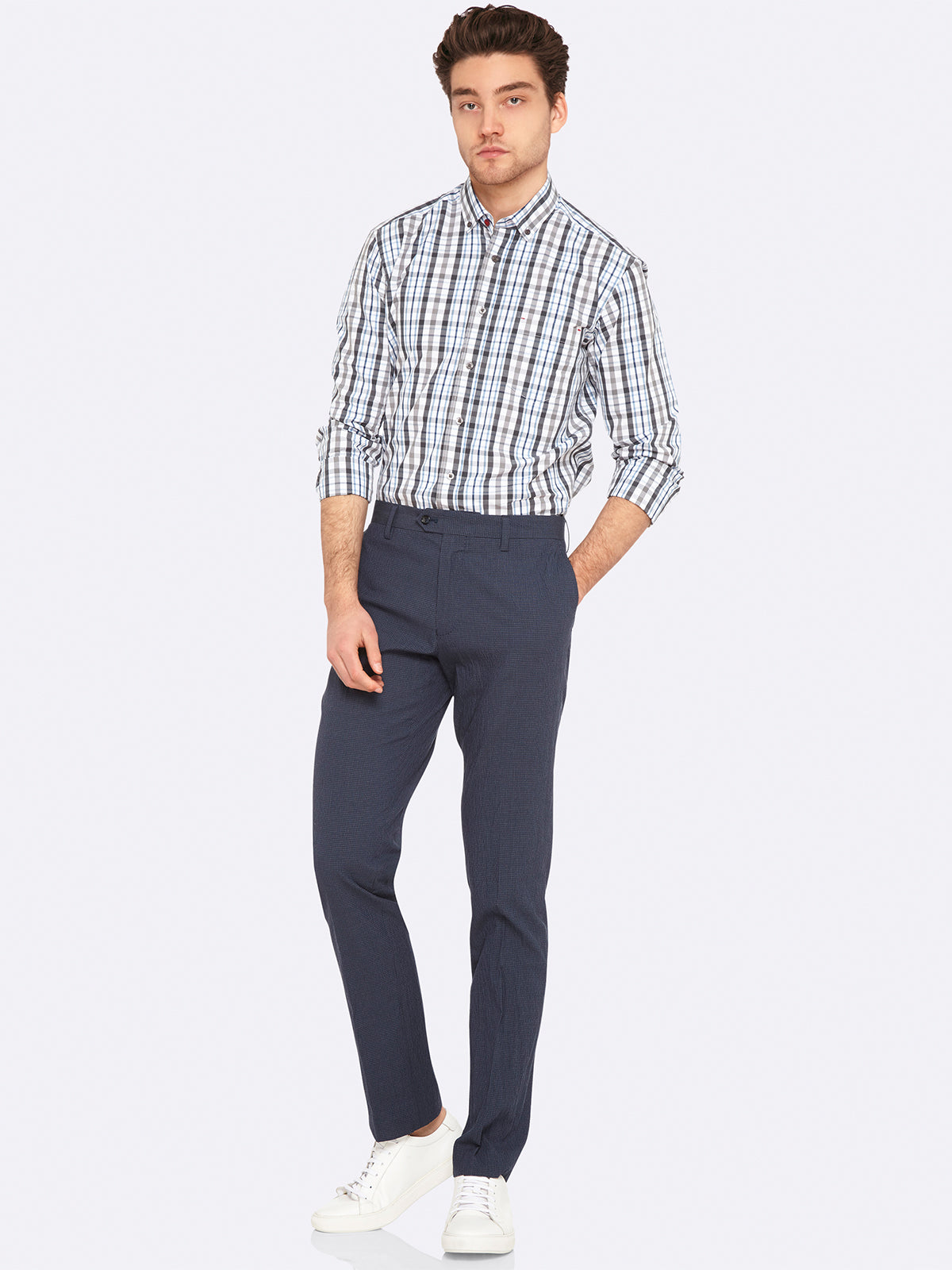 STRATTON CHECKED REGULAR SHIRT GRYX