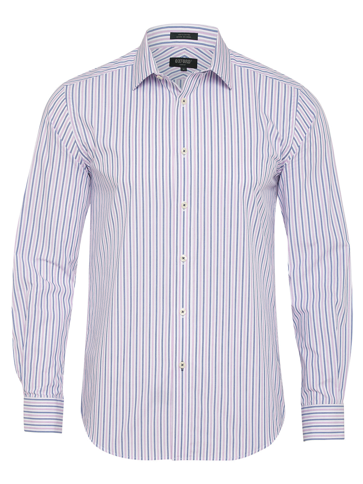 BECKTON STRIPE SHIRT PINK/NAVY
