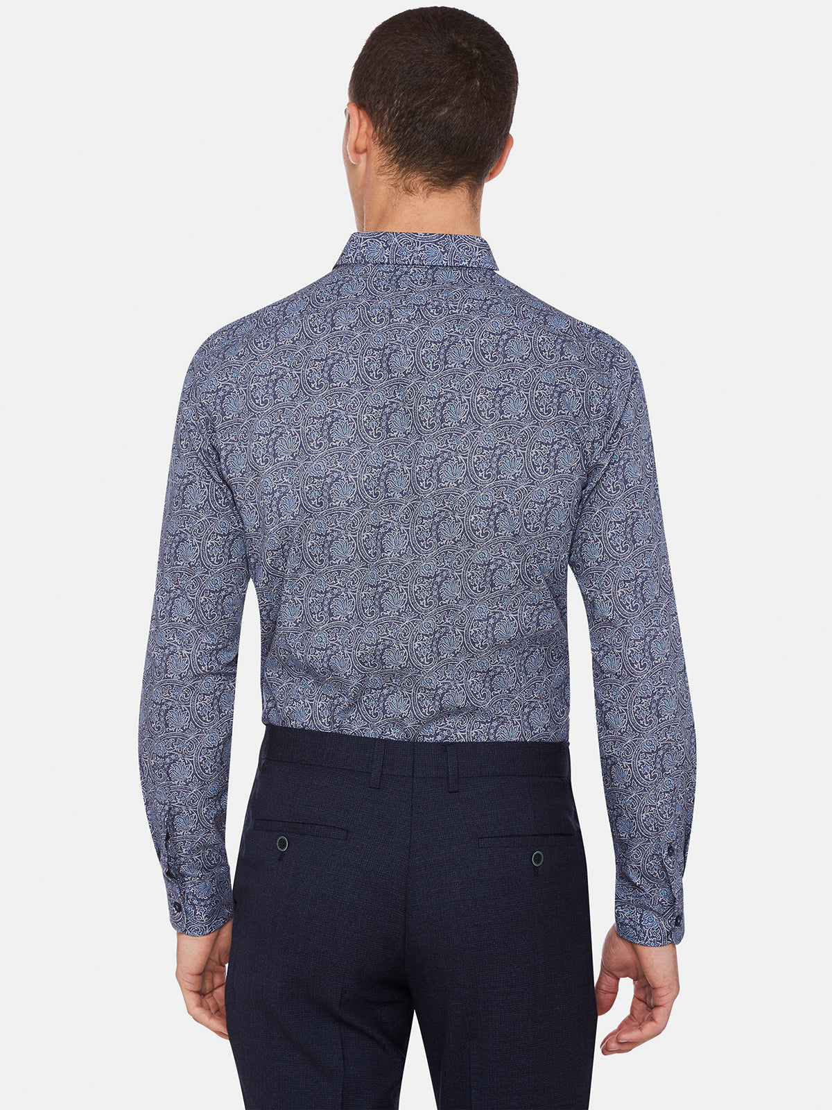 KENTON PRINTED LUXURY SHIRT BLUE
