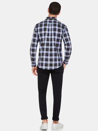 UXBRIDGE REGULAR FIT CHECK SHIRT NAVY/YELLOW