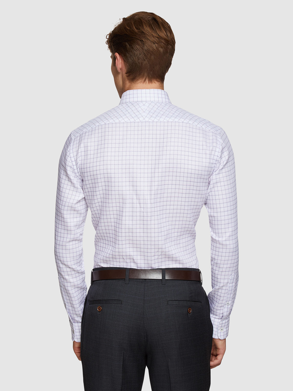 ISLINGTON CHECKED LUXURY SHIRT NAVY/PINK