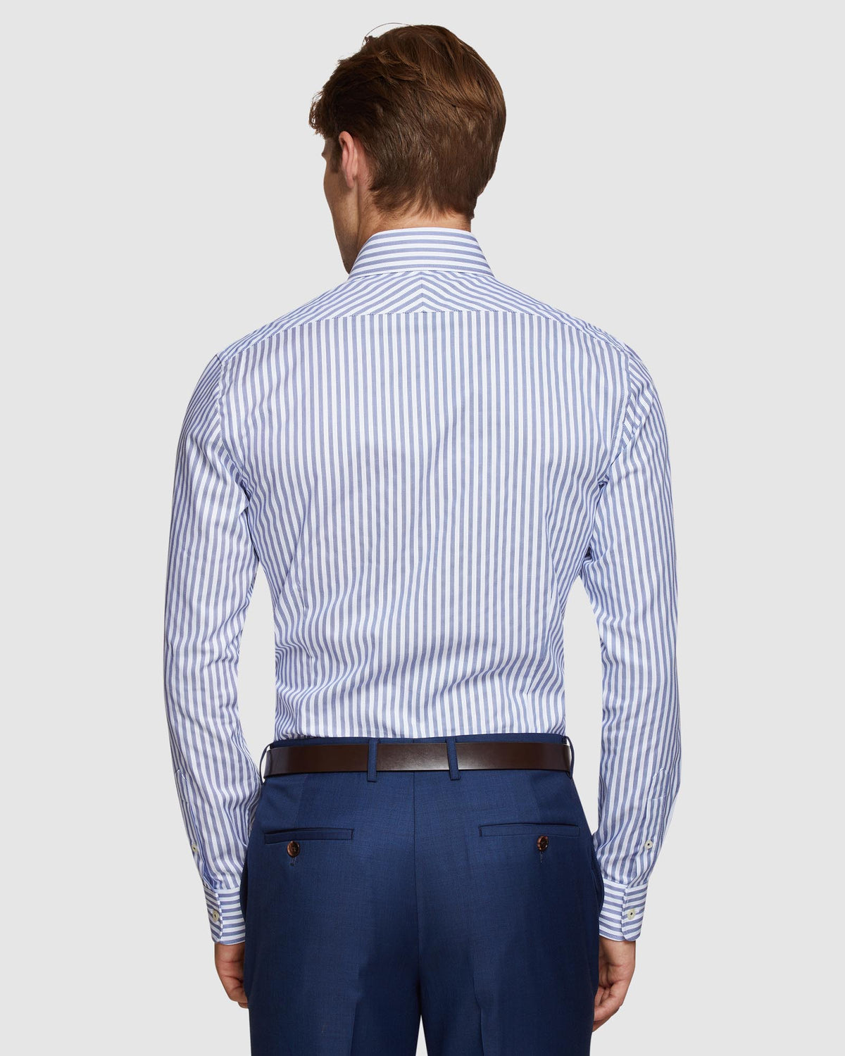 BECKTON STRIPED SHIRT NAVY
