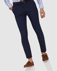 AUDEN ECO CHECKED SUIT TROUSERS